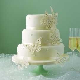Pretty butterflies wedding cake