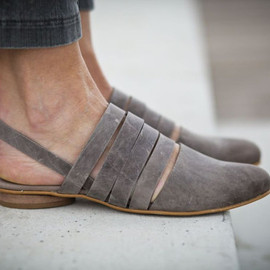abramey - Grace, Grey Leather Sandals