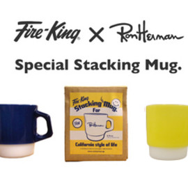 Fire-King × Ron Herman - Special Stacking Mug (yellow)