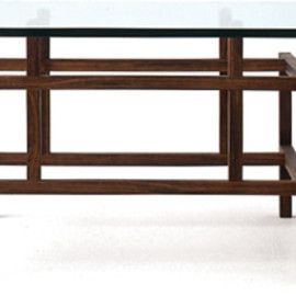 Landscape Products - 'MING' GLASS TOP COFFEE TABLE
