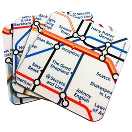 LONDON TRANSPORT MUSEUM - Underground Film Map Coasters