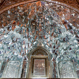 Tehan, Iran - Golestan Palace (the grand hall of mirrors)