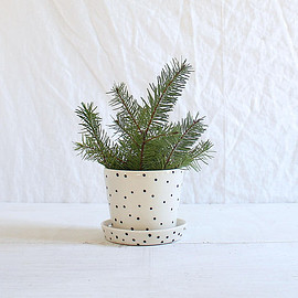 btw ceramics - Dot Mini Planter Black Polka Dot Planter