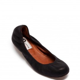 LANVIN - Leather ballerina flats