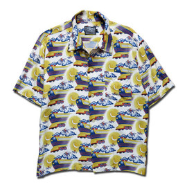 HEADGOONIE - FLYING FUTURE TRAIN ALOHA SHIRTS(SHORT SLEEVE)