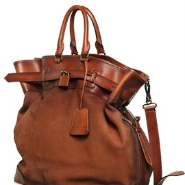 BURBERRY PRORSUM - Tarnished Nubuck Leather Bag