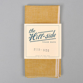 The Hill-Side - Chambray Pocket Square TURMERIC