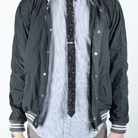 BAND OF OUTSIDERS - NYLON VARSITY BASEBALL JACKET