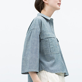 ZARA - OVERSIZED DENIM SHIRT