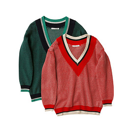 beautiful people - twin color tuck tilden sweater