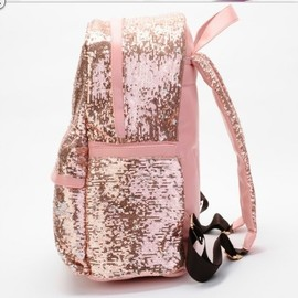 Fashion pink Shiny Unique Backpack Bag
