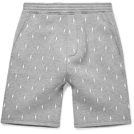 Neil Barrett - Embroidered Jersey Shorts