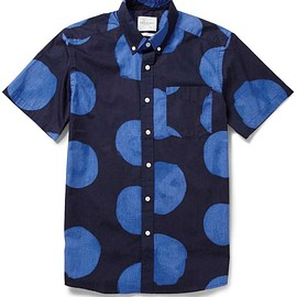 Saturdays Surf NYC - Saturdays Surf NYC Esquina Dot-Print Cotton Shirt