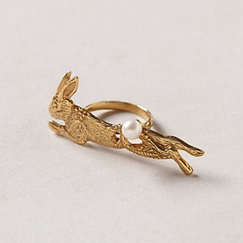 anthropologie - Lapin Two-Finger Ring