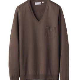 UU - UU cotton V-neck sweater(L)+