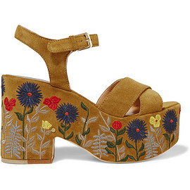 LaurenceDacade - Melissa embroidered suede platform sandals