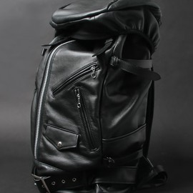 Schott x Luggage Label - Leather Ruck Sack