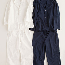 """NOWHAW - """"day"""" pajama #navy / #white パジャマ/シアサッカー"""