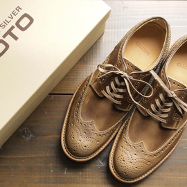 MOTO - Wing Tip Low-cut(Horween Leather,2102,NATURAL)