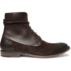 Maison Martin Margiela - Maison Martin Margiela Waxed Suede and Leather Boots