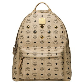 MCM - BACKPACK Visetos BEIGE