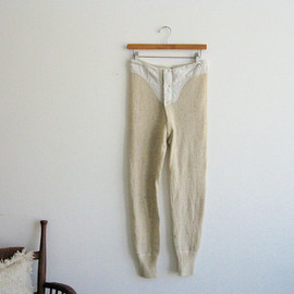 SouvenirSouvenir - 1920s Heathered Wool Knit Leggings. Historic Americana.