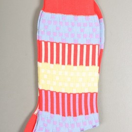 Ayame - Plant Woven Socks in Red