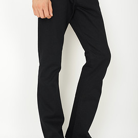 LAD MUSICIAN - NATURAL STRAIGHT FLARE JEANS  BLACK