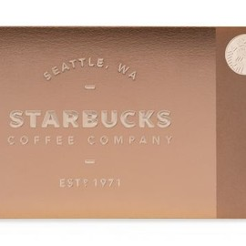 STARBUCKS - Metal Starbucks Card