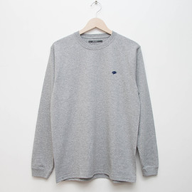 cup and cone - Embroidered L/S - Grey